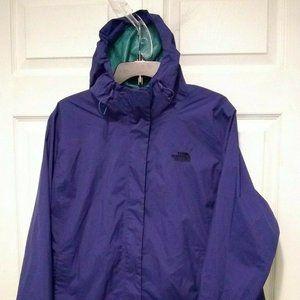 The North Face Womens Hooded Rain Jacket 2X Purple